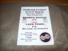 Bamber Bridge v Leek Town, 1996/97